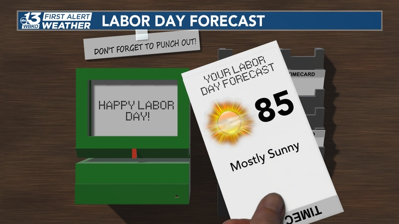 Plentiful sunshine with low-to-mid 80s can be expected in south-central Kentucky!