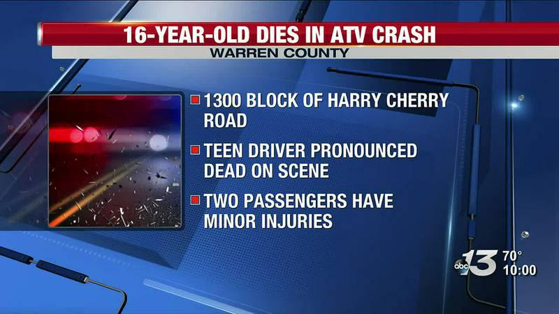 16-Year-Old Dies in Warren County ATV Crash