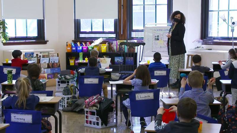 The American Academy of Pediatrics recommends universal masking in schools for everyone older...