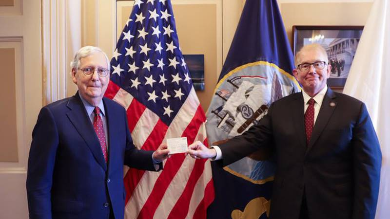 Mitch McConnell receives COVID-19 booster vaccination