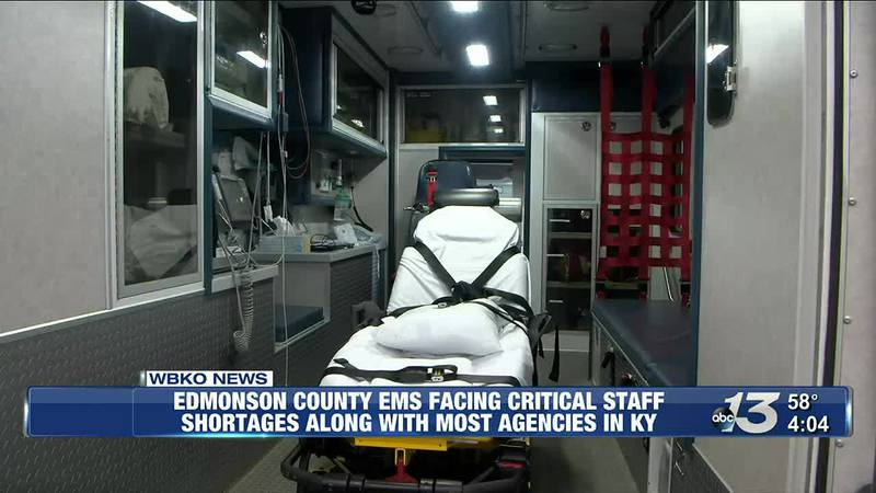 Edmonson County EMS Facing Critical Staff Shortages Along With Most Agencies in KY @ 4