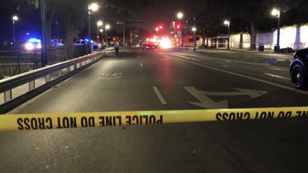 Six people were shot Friday night at the intersection of Canal Blvd. and City Park Avenue, according to the New Orleans Police Department. (Source: Amol Brown)