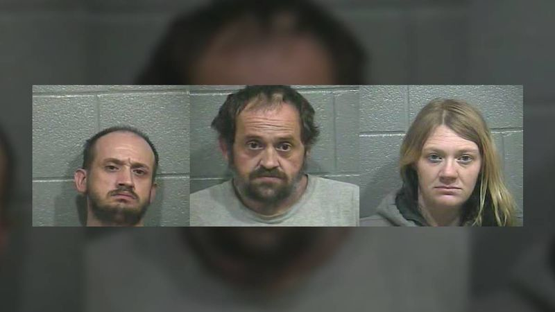 Three arrested after a complaint about a residence on East Main Street.