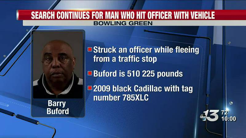 BGPD: Search Continues For Man Who Hit Officer With Vehicle