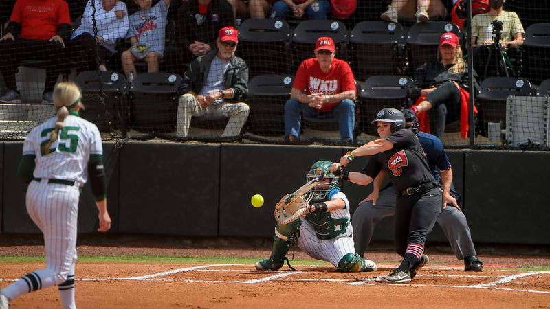 GAME 8 of CUSA Softball Tournament on May 13, 2021 at WKU Softball Complex (Photo by Steve...