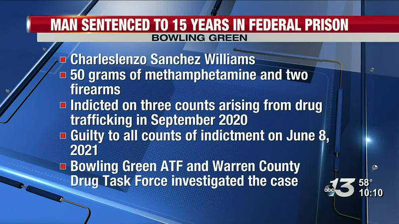 BG Man Sentenced to 15 Years in Federal Prison