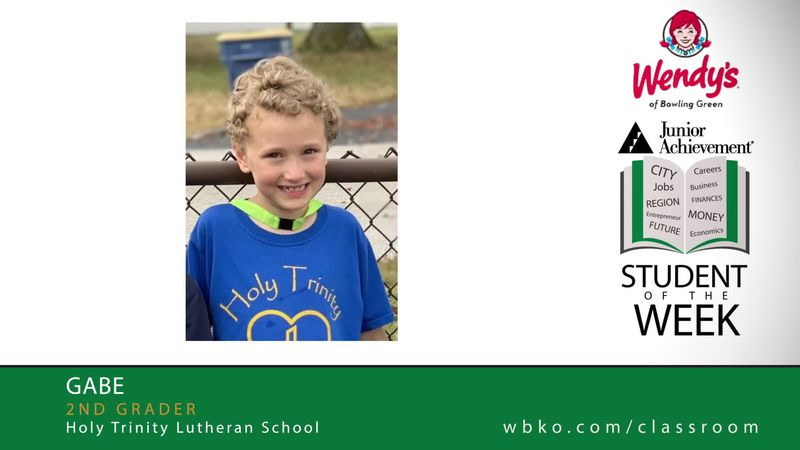 The JA Student of the Week is Gabe