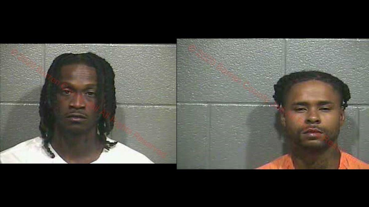 Fredrick Reed (left) and Jordan Johnson (right) arrested on Louie B Nunn Parkway