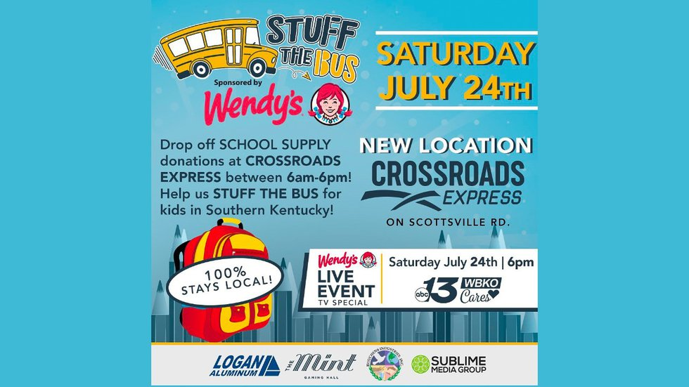 Stuff the Bus at Crosswords Express on Scottsville Road Saturday from 6:00 a.m. till 6:00 p.m.