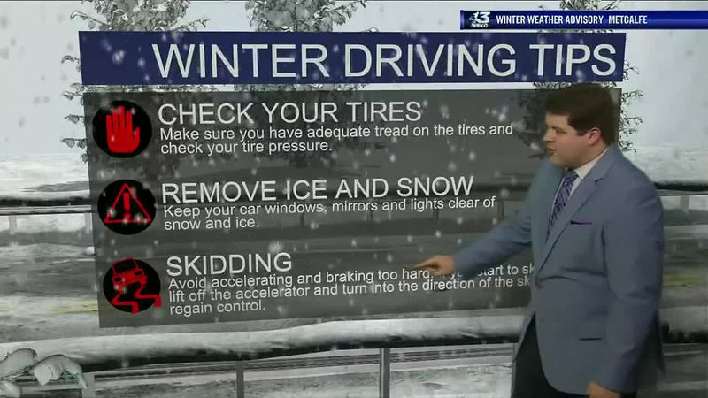 Winter Driving Tips for this evening's weather event.